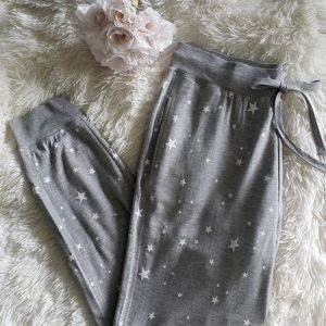 New Gray Stars Joggers with Pockets Lounge Pants L